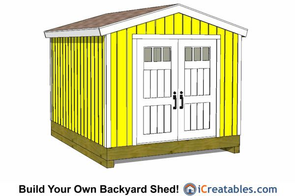 10x12 Gable Shed With Pre Hung Door Shed Design Shed Plans 10x12 Shed Plans