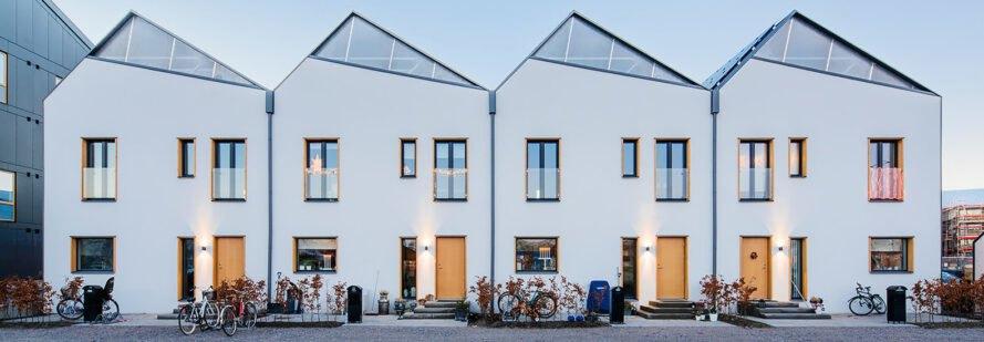 Modular Homes In Sweden Are Specially Designed For Solar Panels Modular Homes Passive House Design Prefab Modular Homes