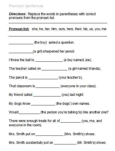 Free Possessive Pronoun Worksheets 1 Lessons Pronoun