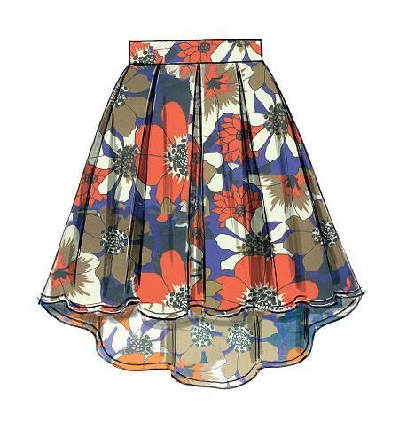 M6706 Misses Skirts & Petticoat