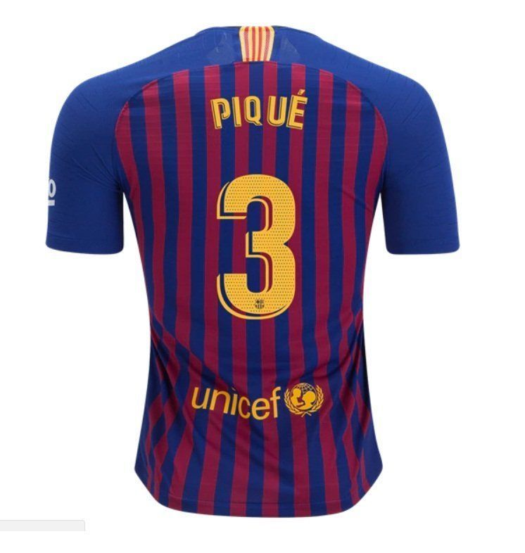 c28867866a5 PIQUE  3 FC Barcelona 2018-2019 Home Jersey Nike Free Shipping (eBay Link)