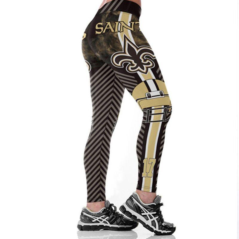 New Orleans Saints Football Team Women Fitness Leggings Sport Yoga Run Pants