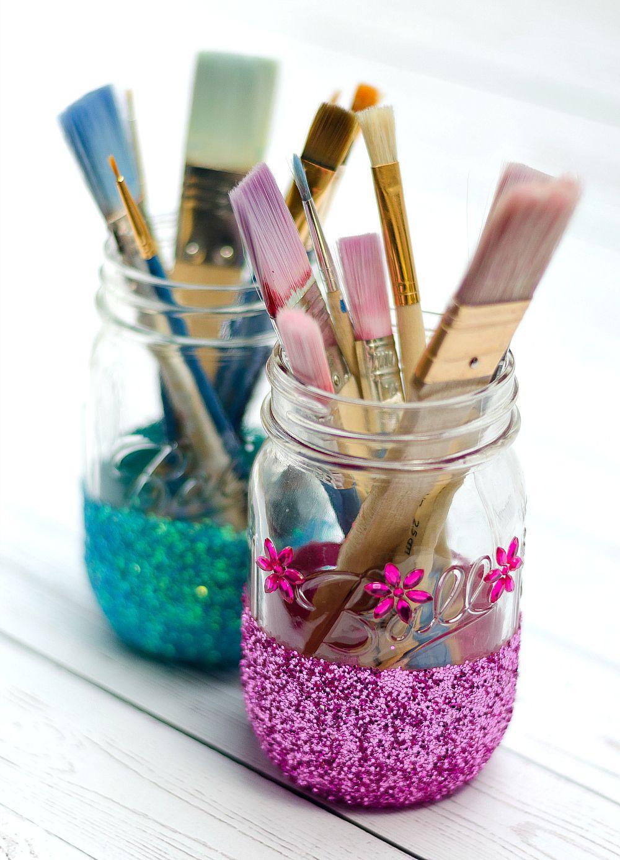 Glitter Mason Jar Craft - Mason Jar Crafts Love