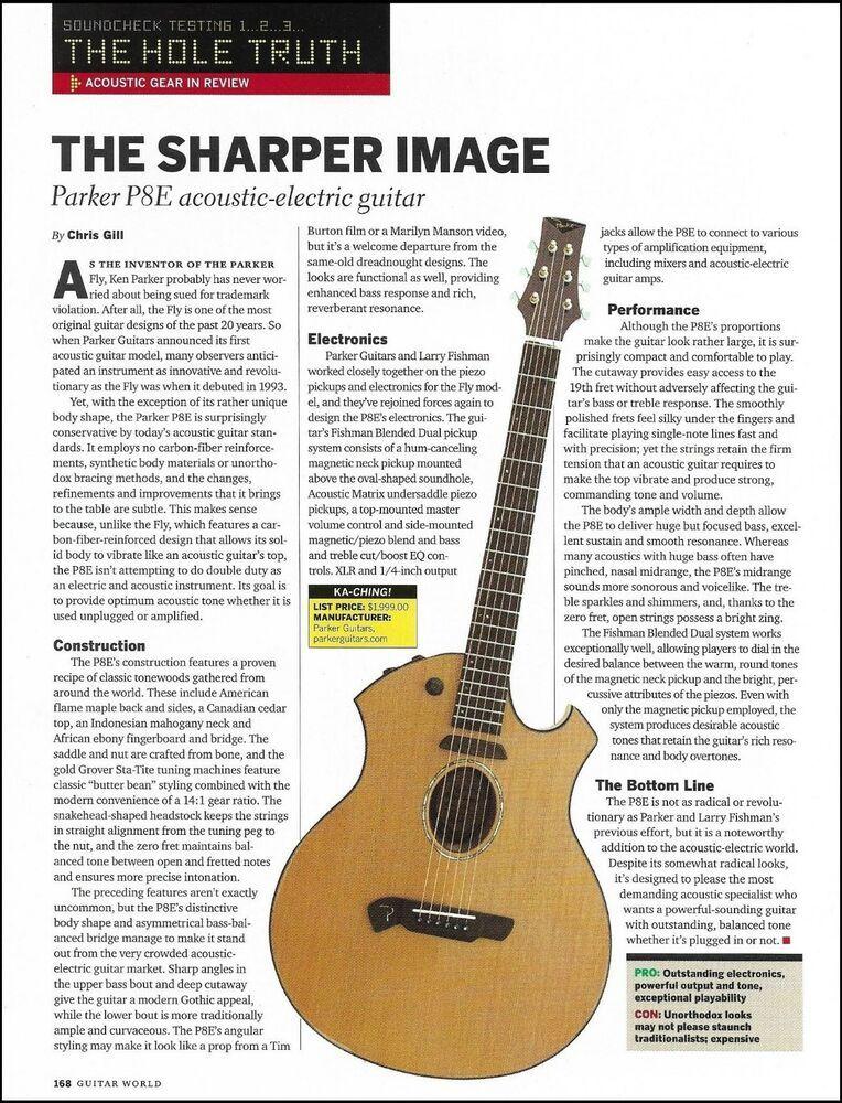The Parker P8e Acoustic Electric Guitar Product Review 8 X 11 Article Print Parker Acoustic Electric Guitar Electric Guitar Acoustic Electric