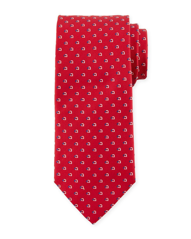 181dd30f4a65 Salvatore Ferragamo Gancio-Print Silk Tie | Products | Silk ties ...