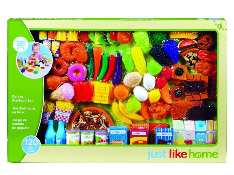Just Like Home Toy Set : Just like home super play food set 120 pieces gift ideas