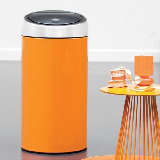 Beyond Stainless Steel Colorful Kitchen Trash Cans From Brabantia Kitchen Trash Cans Trash Cans Kitchen Colors