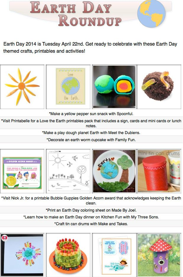 16 Earth Day themed crafts, printables and activities!