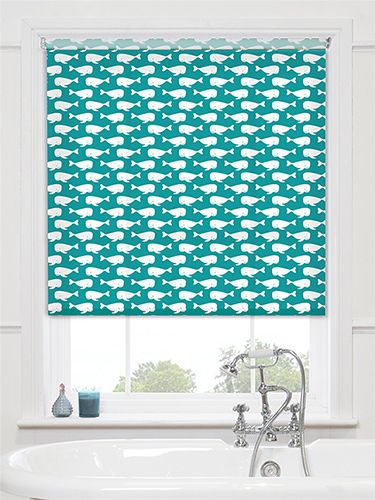 Sea Life Turquoise Roller Blind From Blinds 2go Bathroom
