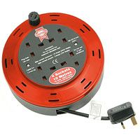 Faithfull 4 Socket 10 Amp Cable Reel    10m, 10 amps, 230 volts  Designed to fit comfortably in the hand, which makes its easy to wind and to use.