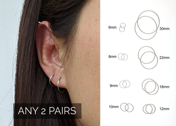 Small Hoop Earrings Surgical Steel Earrings Forward Helix Earring Stud Cz Conch Piercing Tragus Piercing Cartilage Hoop Nose Septum Ring 8mm Hoop Earrings Small Surgical Steel Earrings Tiny Hoop Earrings