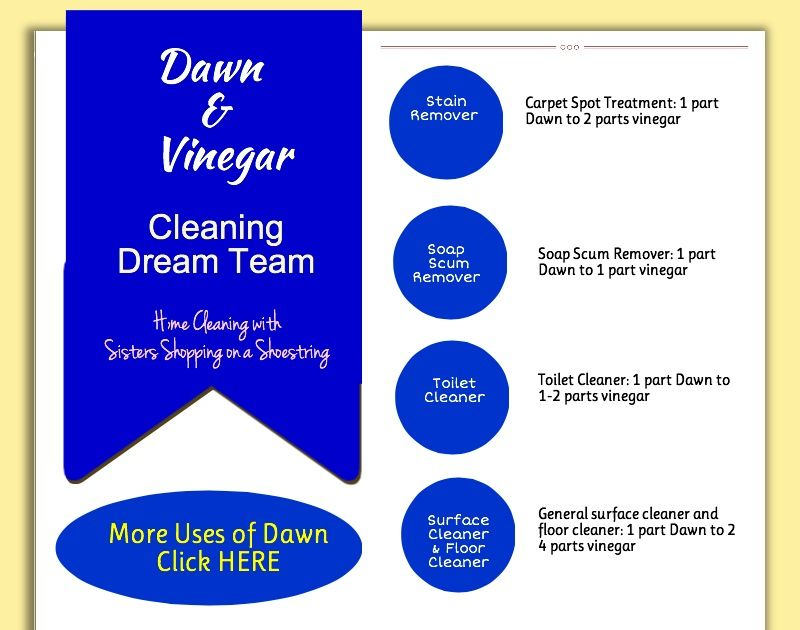 Cleaning Dream Team Vinegar And Dawn Vinegar Dawn And