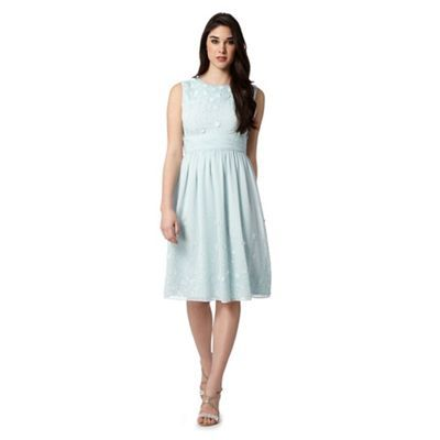 1 Jenny Packham Designer Pale Blue Floral Sequin Dress At Debenhams