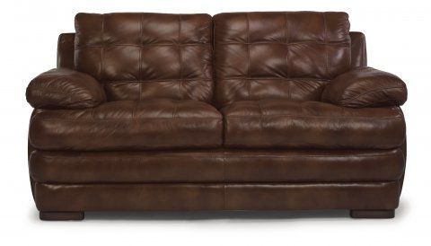 Jacob Leather Loveseat By Flexsteel Via Furniture Companies