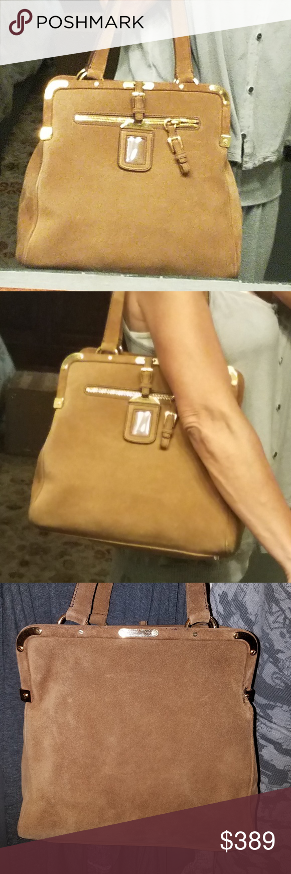 I just added this listing on Poshmark  Authentic Prada suede Brown shoulder  bag.  shopmycloset  poshmark  fashion  shopping  style  forsale  Prada   Handbags 4e92eb50e9