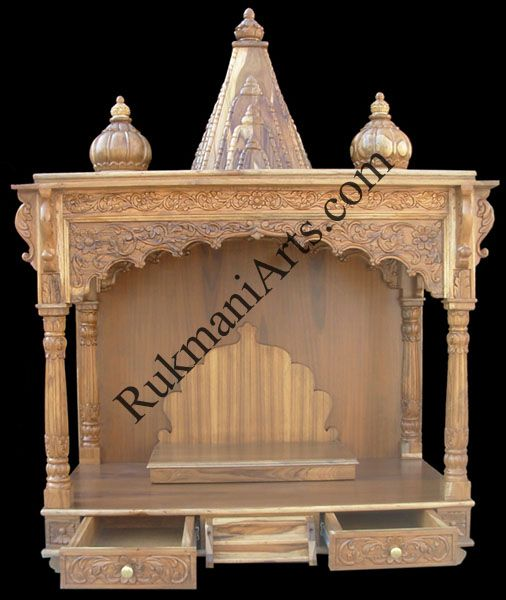 Wooden Mandir   Wooden Temple Design/ Wooden Temple For Home .