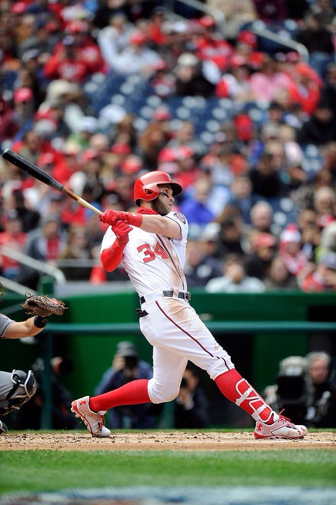 Bryce Harper Hits His Career Homerun Yesterday And It Was His First Career Grand Slam Major League Baseball Players Bryce Harper Sports Celebrities
