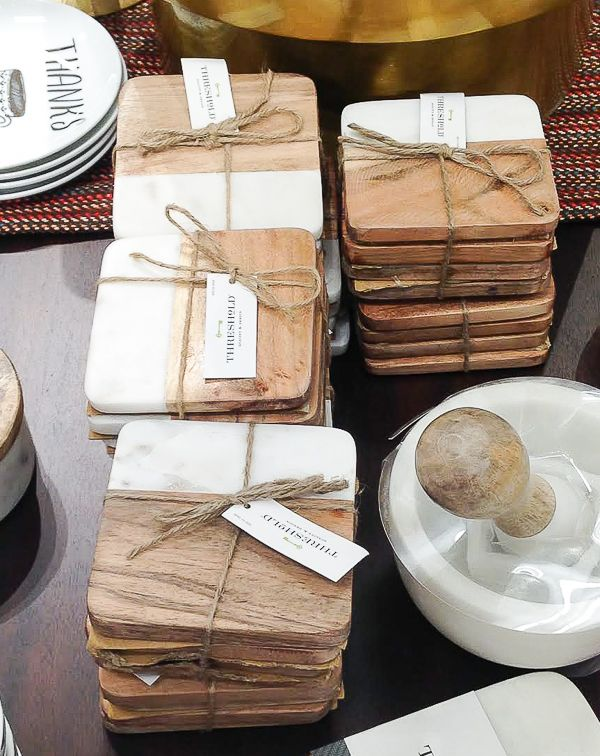 Photo of Knock Off: DIY Wood and Faux Marble Coasters