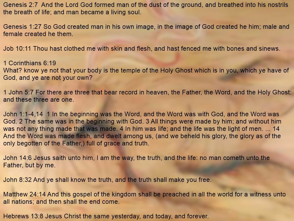 God created man GOLD MINE of scripture Genesis 319