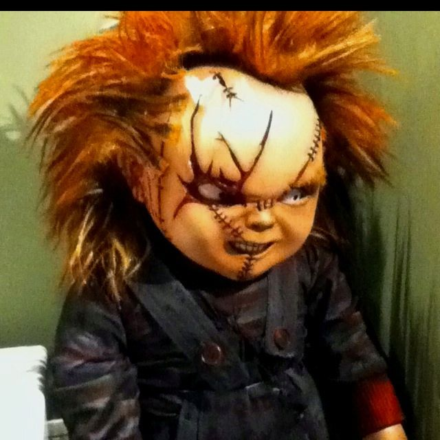 Joey watched all the Chucky movies when he was little. He LOVED them, we had to just keep rewinding them and he watched them over & over. He was a freak!!!!