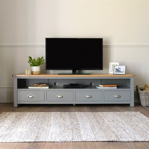 sports shoes 852cb 71ecc Florence Grey Extra Large TV Stand - Up to 80'' - The ...