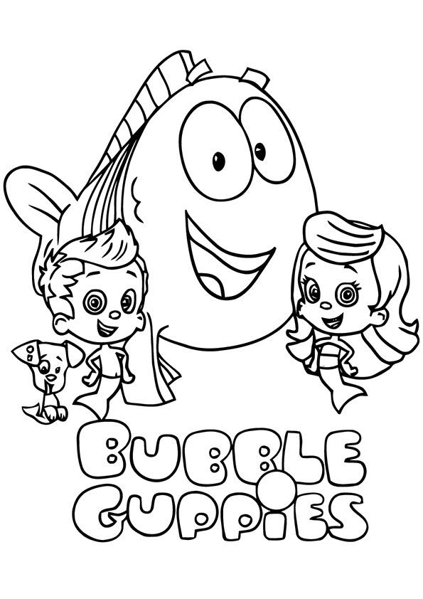 print coloring image | Bubble Guppies / Bubulle Guppies | Pinterest