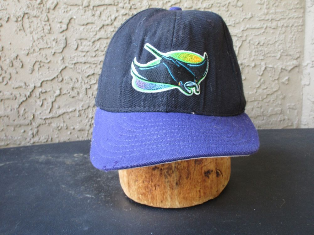 163e08c184b New Era Tampa Bay Devil Rays Wool Twill Fitted 7 3 8Baseball Cap Hat  Vintage  Cap