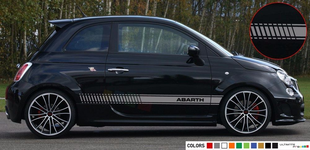 Sticker Decal For Fiat 500 Abarth Stripe Chrome Seat Carbon Hood Graphics Mirror Ultimateprocy1 Fiat 500 Fiat Volkswagen