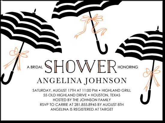 Umbrella Bows CUTE Shower Invite! LOVE IT