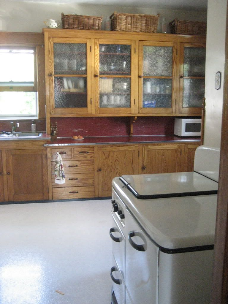 1930 S American Foursquare Kitchen Craftsman Kitchen Vintage