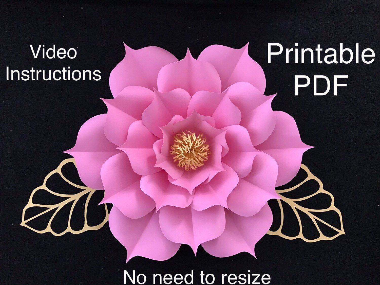Flower Template Pdf Flower Template Printable Giant Paper Flower Templ Paper Flower Printable Templates Paper Flower Templates Pdf Flower Templates Printable