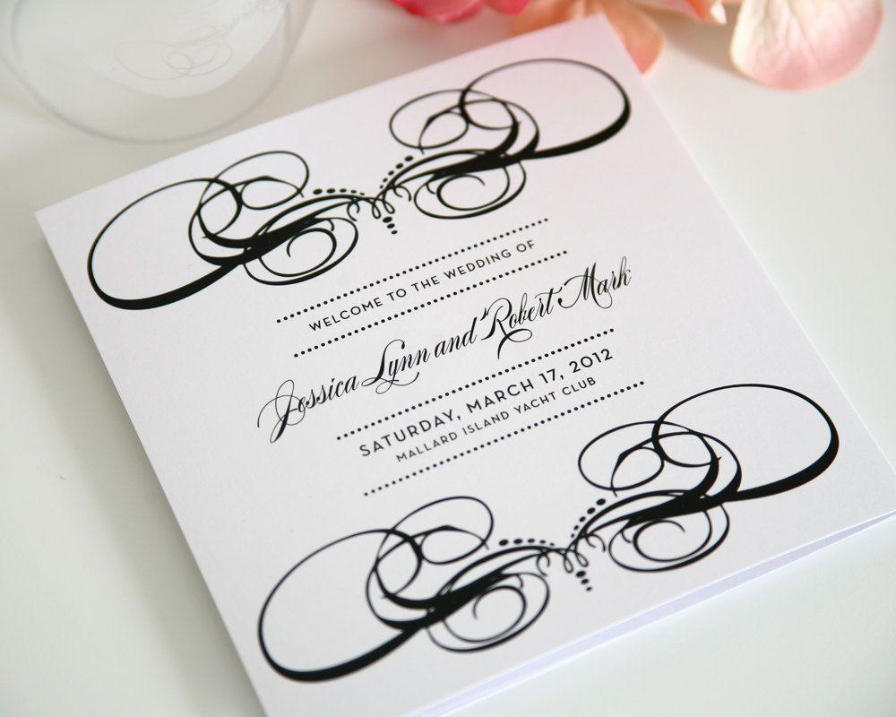tri fold wedding program examples military bralicious co