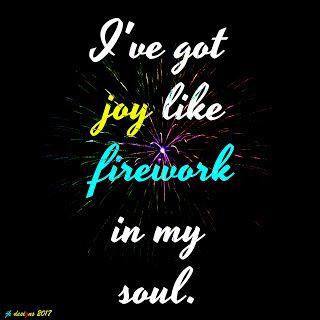 Mijn T-shirt-prints: Joy like firework