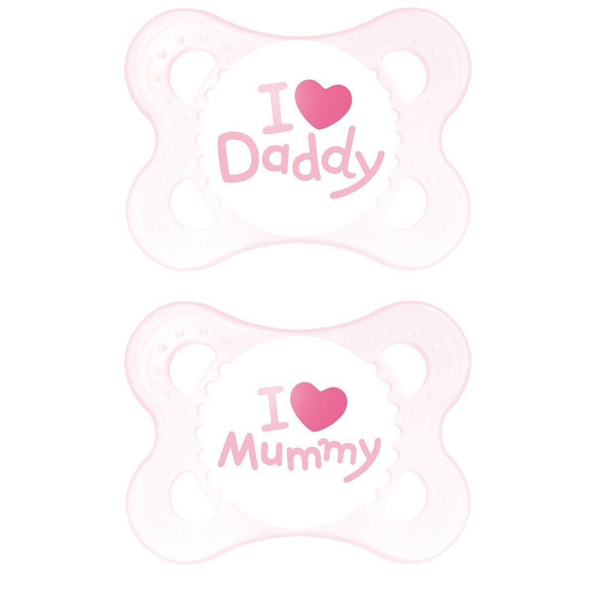 SIZES /& COLOURS DADDY/'S GIRL PINK UNIQUE DUMMY PACIFIER SOOTHER ALL TEATS