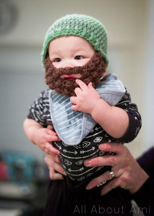 34eecdeebca Bobble Bearded Beanies! Free pattern via Ashlee Marie!
