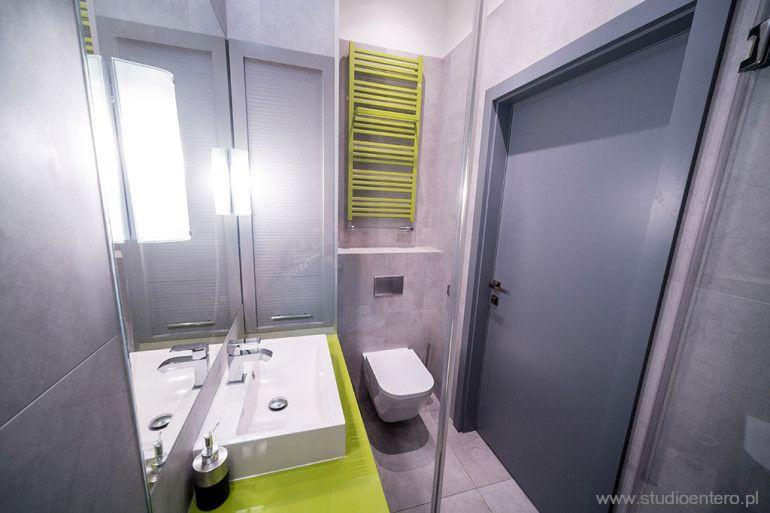 łazienka Szaro Limonkowa Szukaj W Google Mieszkanie