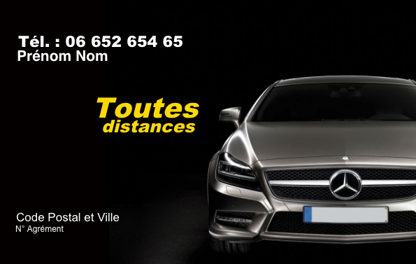 carte de visite taxi Modèle Taxi, Carte de Visite Taxi à imprimer, personnalisable