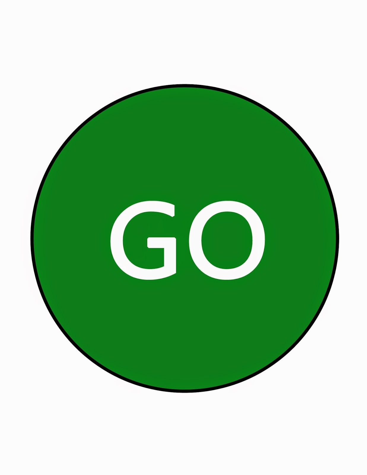 Stop And Go Signs Printable Free