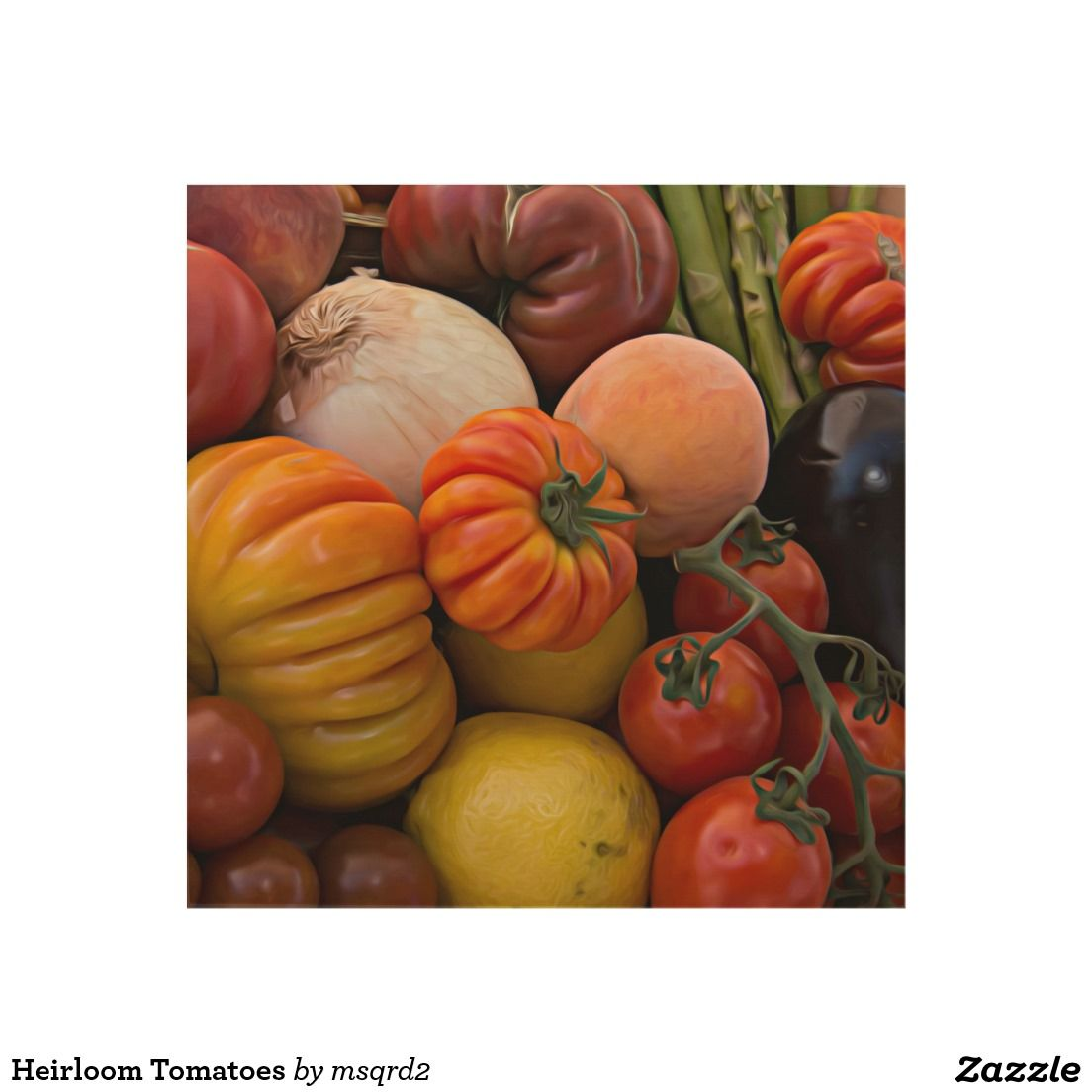 Heirloom Tomatoes Wood Wall Art