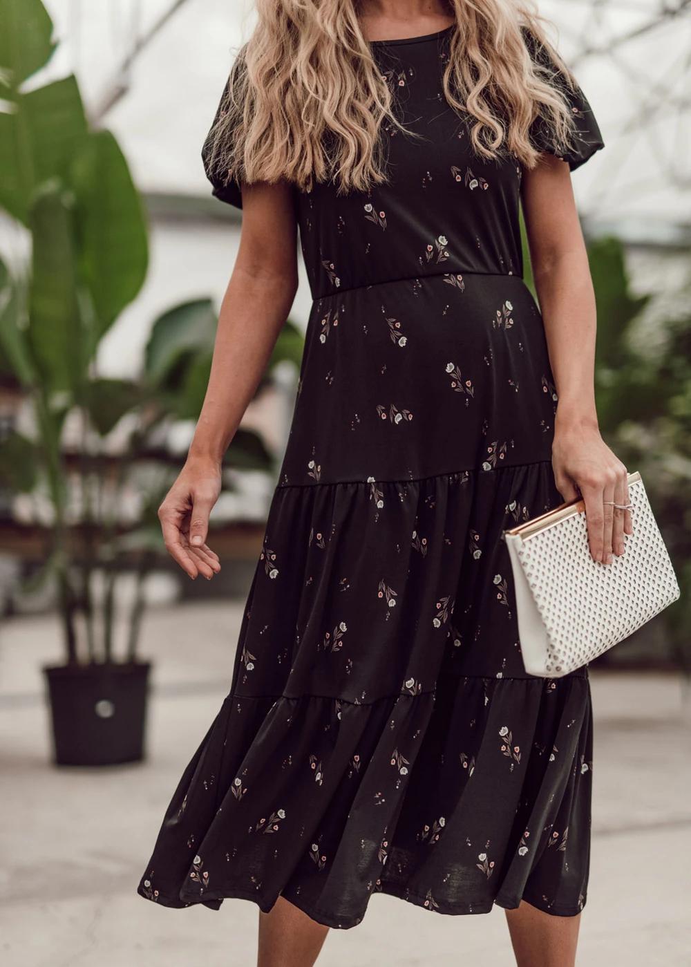 Twyla Floral Midi Dress Jessakae Modest Dress Wavy Hair Blogger Ootd Style Tan Skin Womens Fashion Makeup B Fashion Dresses Trending Fashion Outfits [ 1399 x 1000 Pixel ]