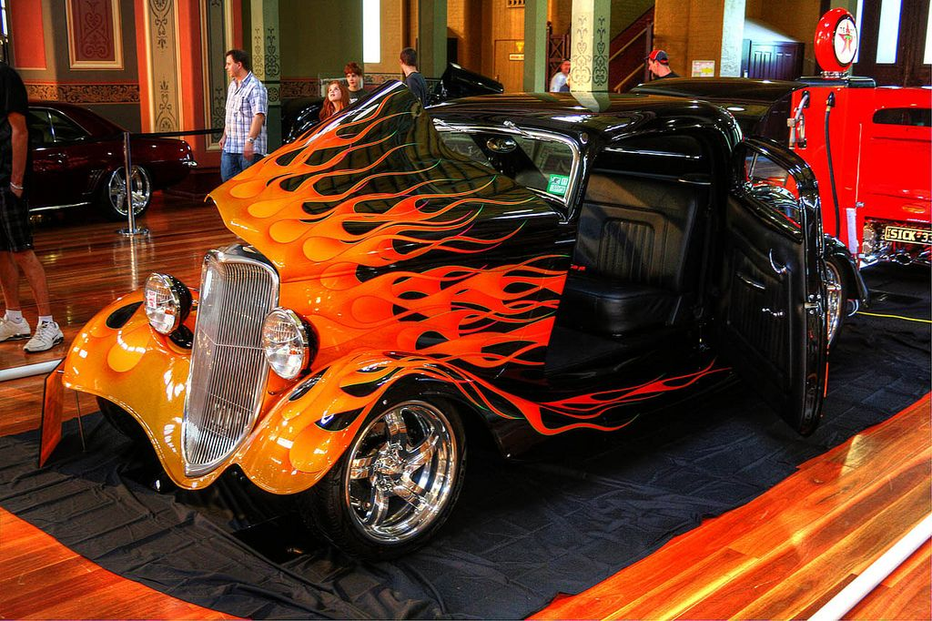 Flamed 34 Ford Hot Rods Classic Hot Rod Ford Classic Cars