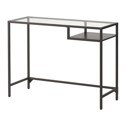 Glazen Side Table Ikea.Ikea Vittsjo Black Brown Glass Laptop Table Ikea Laptop