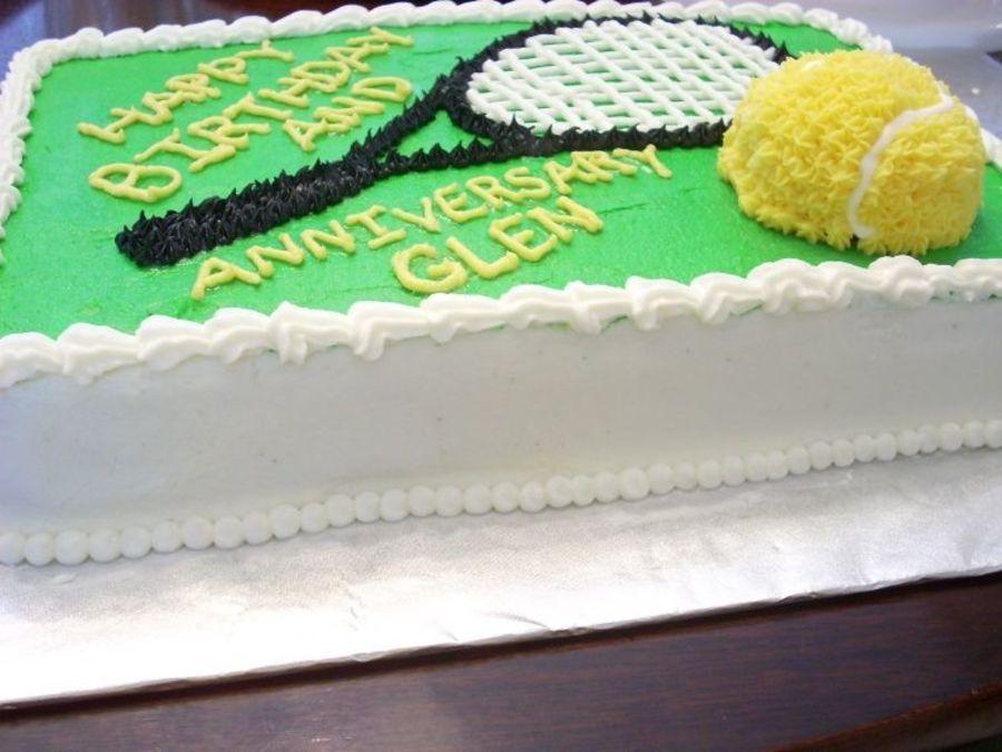 Tennis Cake Tennis Cake Cake Birthday Sheet Cakes