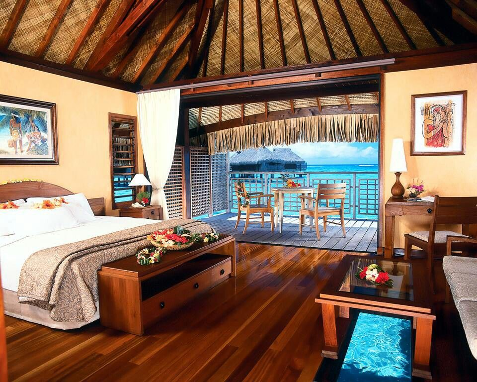 Delicieux Inside One Of Those Huts On The Water You See In Tahiti! L♡ve