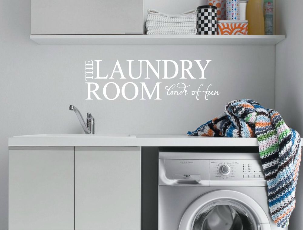 laundry wall quote | utility room decal - aspect wall art