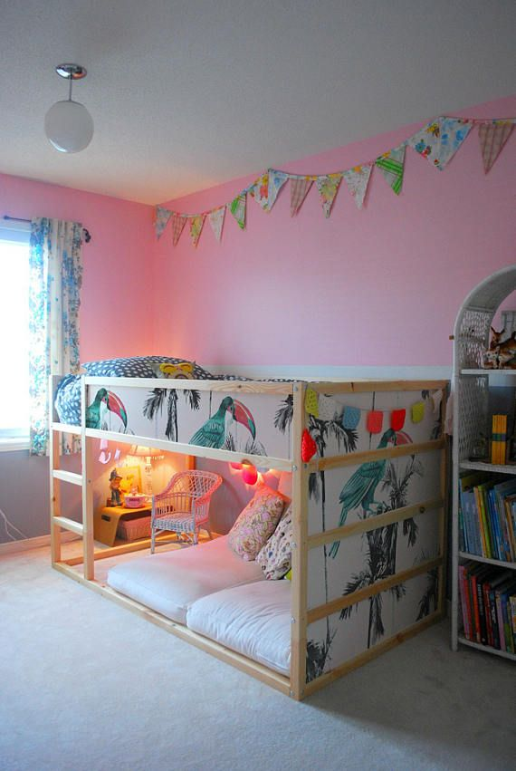Ikea Kura Bed Removable Stickers Palms And Parrots Ikea Nursery