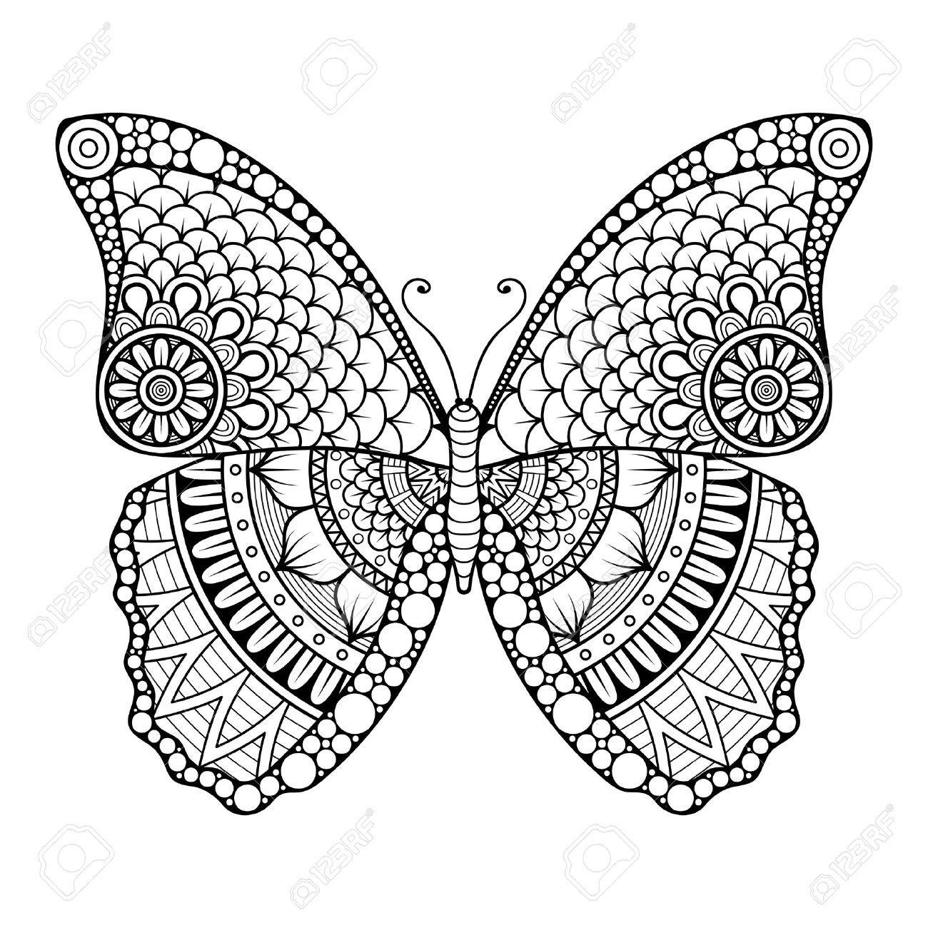 Ornement Belle Carte Avec Le Papillon Element Geometrique Faite Dans Le Vecteur Mandala Coloring Pages Butterfly Mandala Butterfly Coloring Page [ 1300 x 1300 Pixel ]