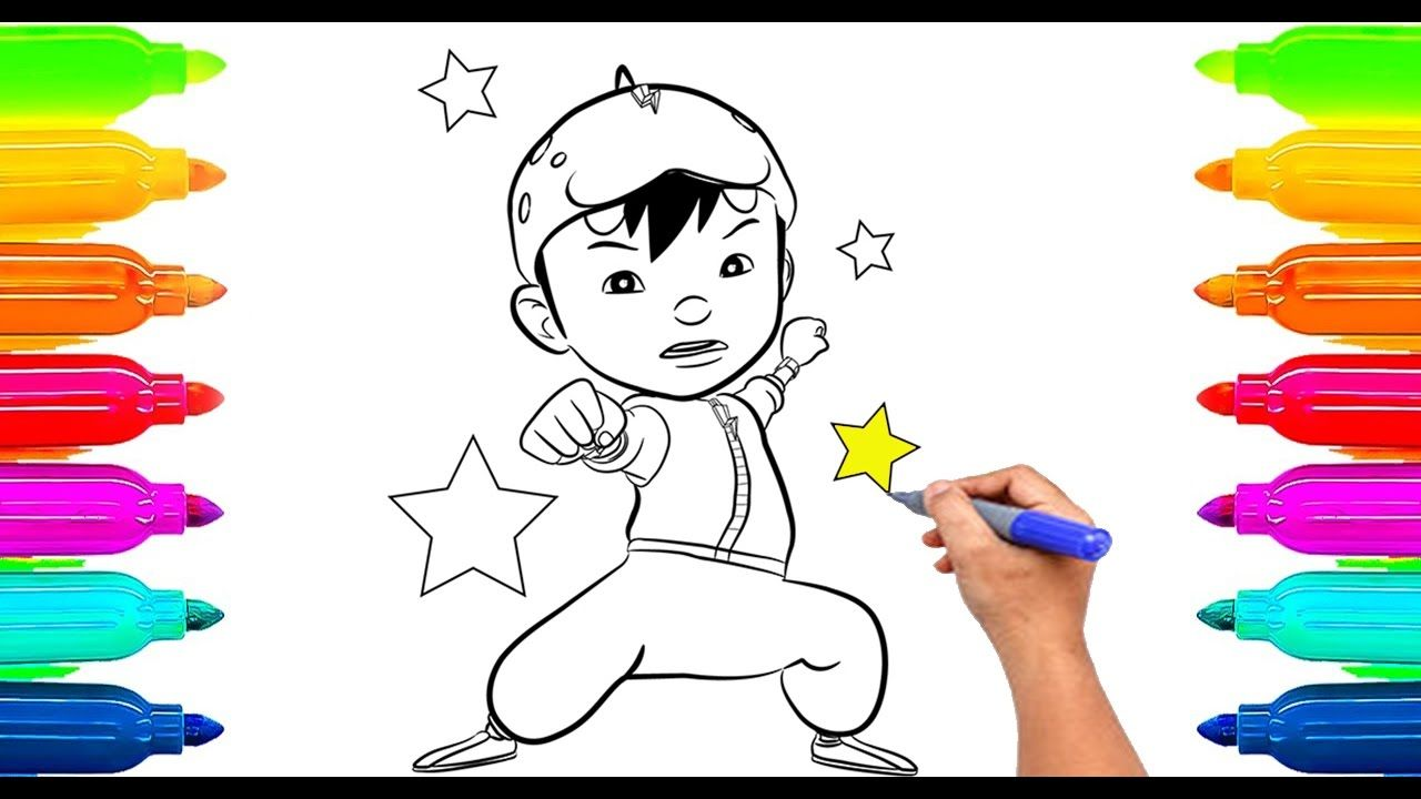 How To Draw Boboiboy Coloring Book For Kids Learning Paint With Colored Markers If You Like Our C Coloring Books Free Coloring Pages Coloring Pages For Kids