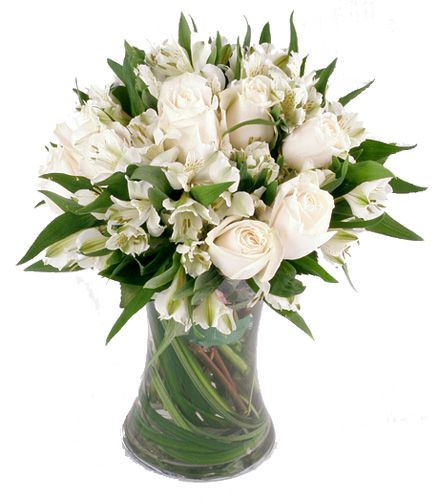 white flower arrangements for weddings white flowers and white