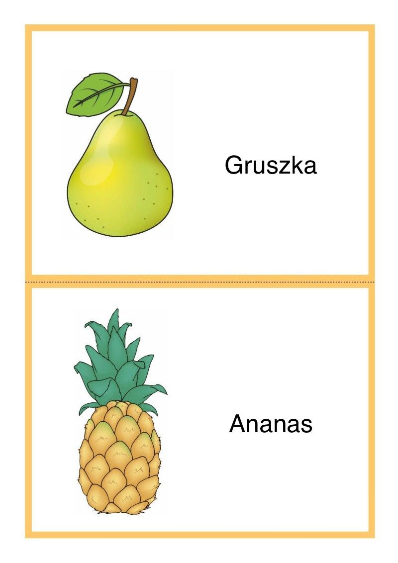 Tablice Edukacyjne Owoce Do Druku 5 Fruit Pineapple Food